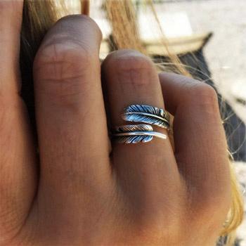 boho ring zilver chani