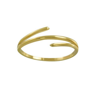 Trois ring - goldplated