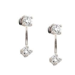 Glitter earjacket - 925 zilver