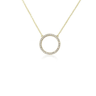 Sparkly circle ketting - goldplated
