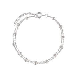 Double Satellite armbandje - 925 zilver