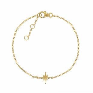 Starburst armbandje - goldplated
