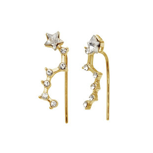 Constellation earclimber - goldplated