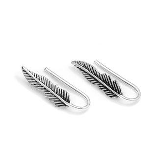 Little feather earclimbers - 925 zilver
