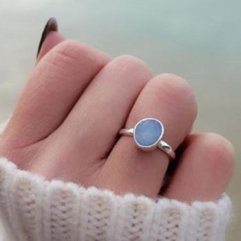 opal ring zilver
