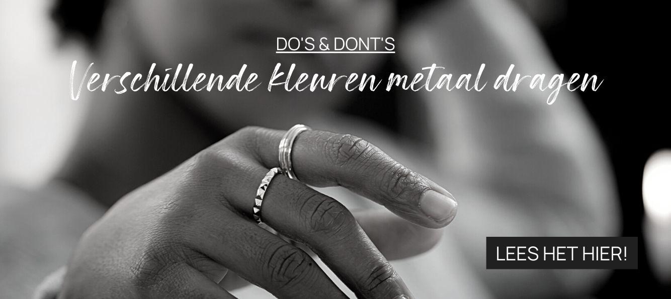 DO's & DON'TS: Verschillende kleuren metaal dragen
