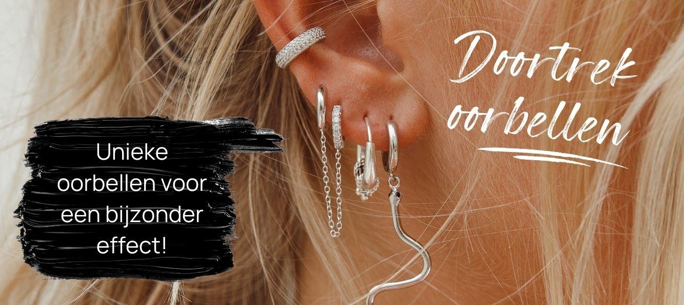 Doortrek oorbellen – unieke oorbellen voor een bijzonder effect!