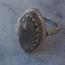 Labradorite Eye Ring - maat 18 - 925 zilver