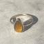 Tigereye Drop Ring - maat 19 - 925 zilver