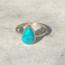 Turquoise Drop Ring - maat 19 - 925 zilver