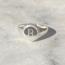 Zegelring 'B' - maat 18 - 925 zilver