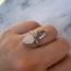 Double Ring Moonstone Aquamarijn - maat 19 - 925 zilver