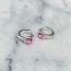 Hugging Zirconia Pink - 925 zilver