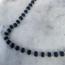 Black Onyx Beads Necklace - 925 zilver