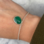 Green Onyx Hanger Armband - 925 zilver