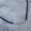 Black Onyx Beads Necklace Pearl - 925 zilver