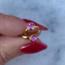pink zirkonia oorringen - goldplated