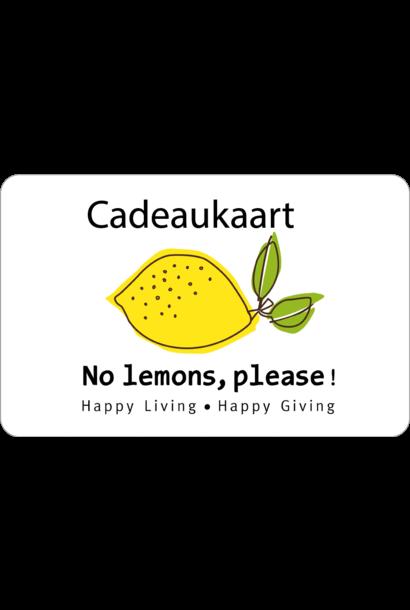 No lemons please