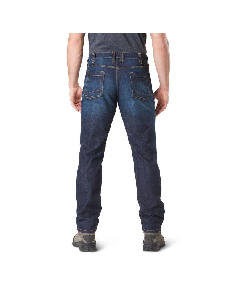 5.11 Tactical 74465 Defender Flex Slim Jean Dark Wash Indigo 649