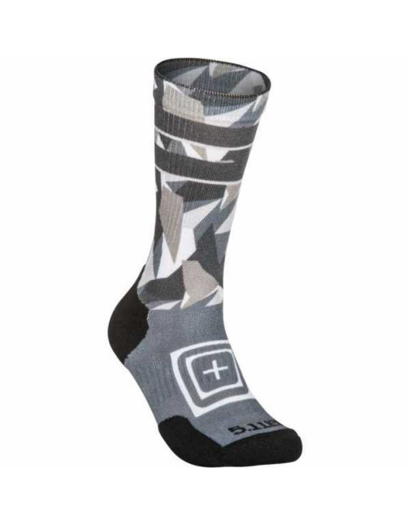 5.11 Tactical 10041AC 5.11 Tactical Sock And AWE Crew Dazzle 001 Cool Grey