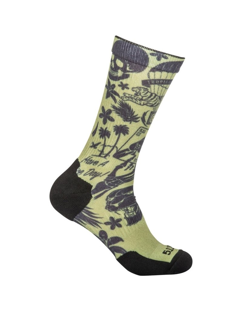 5.11 Tactical 10041AE 5.11 Tactical Sock And AWE Crew 196 Army Green