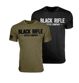 Black Rifle Coffee Black Rifle Coffee T Shirt Grey Vintage Logo