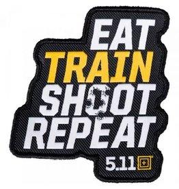 5.11 Tactical 81073  5.11 Tactical Eat Train Shoot Repeat Patch