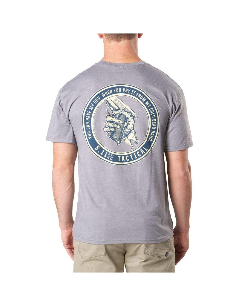 5.11 Tactical 41191EA 5.11 Tactical T-shirt Cold Dead Hands .45 Grey Heater 097