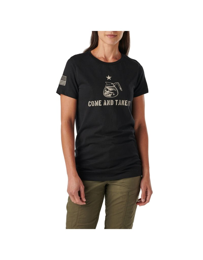 5.11 Tactical 31226ZL 5.11 Tactical WM Come Take My Coffee S/S Tee Color 019 Black Size: S