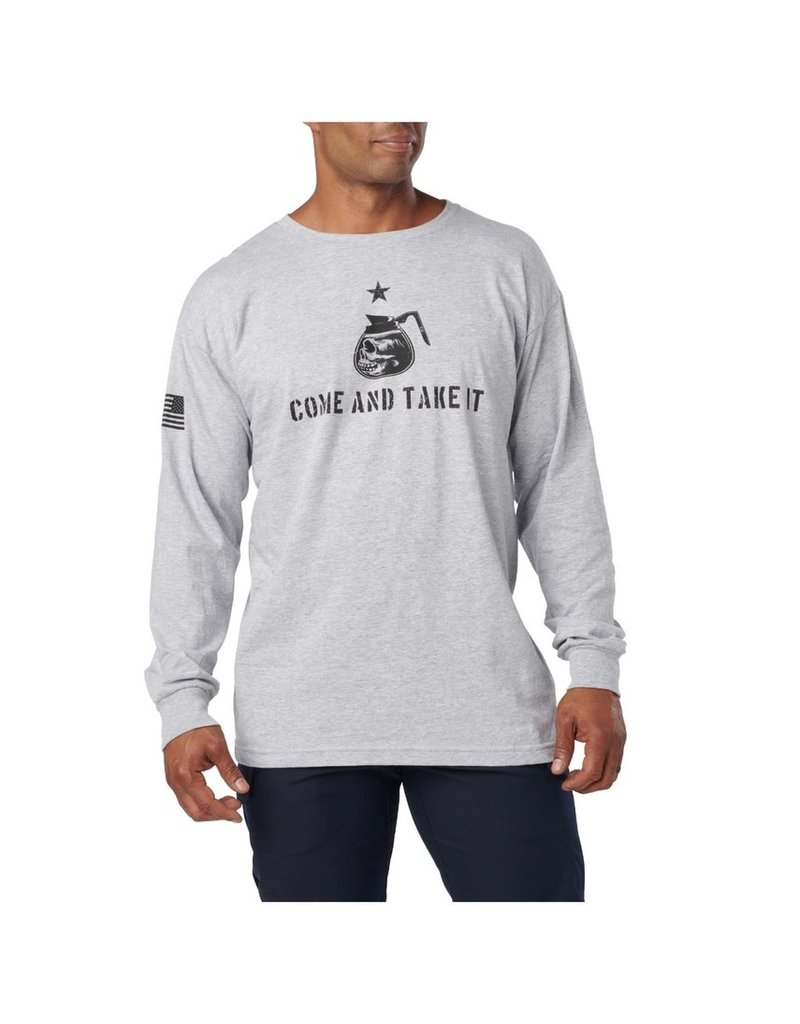 5.11 Tactical 42111ZK 5.11 Tactical Come Take It L/S Tee Size 2XL Color 016 Heater Grey