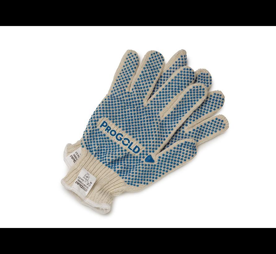 Handschoen Katoen + Blauwe Nopjes