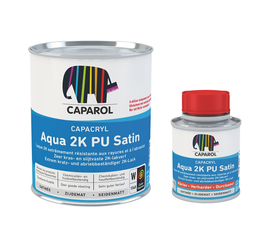 Capacryl Aqua 2K PU Satin | 2K Zijdeglans Lakverf