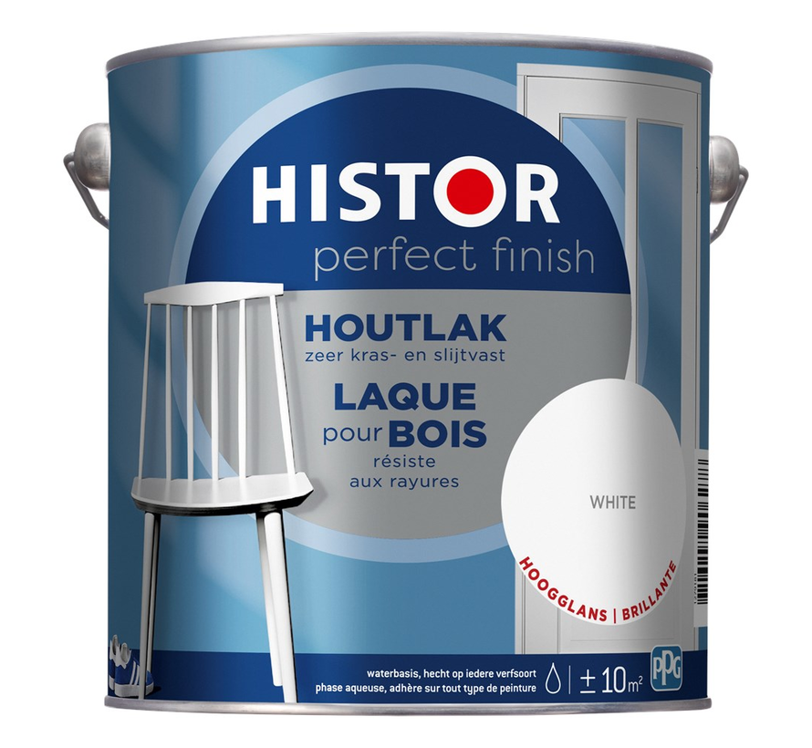 Perfect Finish Houtlak Hoogglans Wit