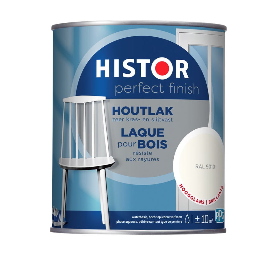 Perfect Finish Houtlak Hoogglans RAL9010