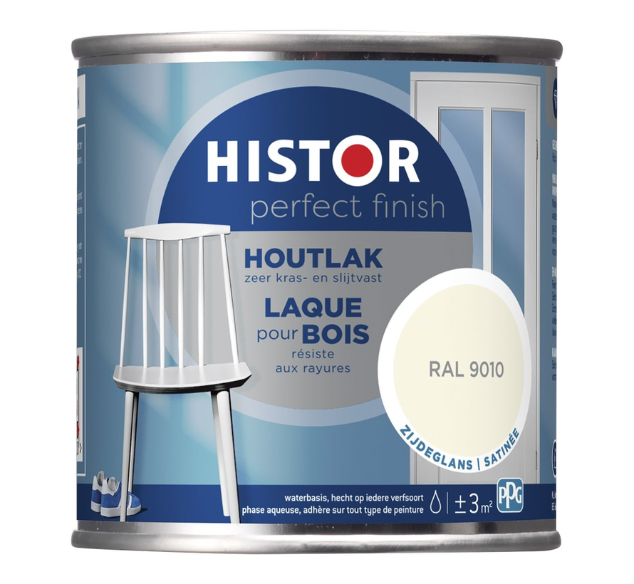 Perfect Finish Houtlak Zijdeglans RAL9010
