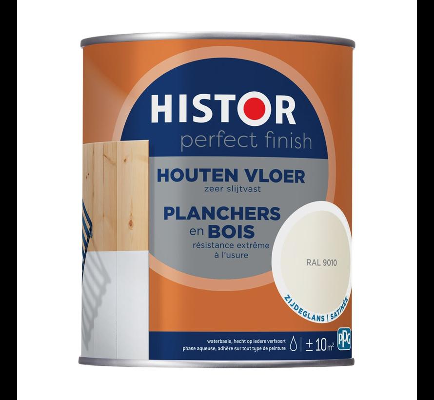 Perfect Finish Houten Vloer Zijdeglans RAL9010