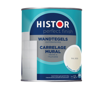 Histor Perfect Finish Wandtegels Zijdeglans RAL9010