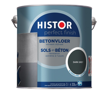 Histor Perfect Finish Betonvloer Zijdeglans Dark Grey