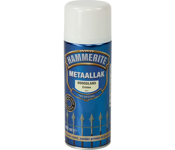 Hammerite Metaallak Hoogglans Creme Spuitbus