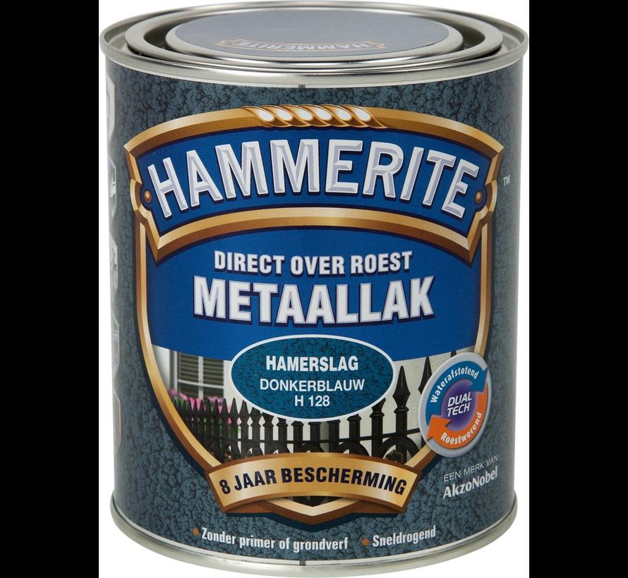 Metaallak Hamerslag Donkerblauw