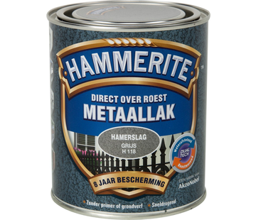 Hammerite Metaallak Hamerslag Donkergrijs
