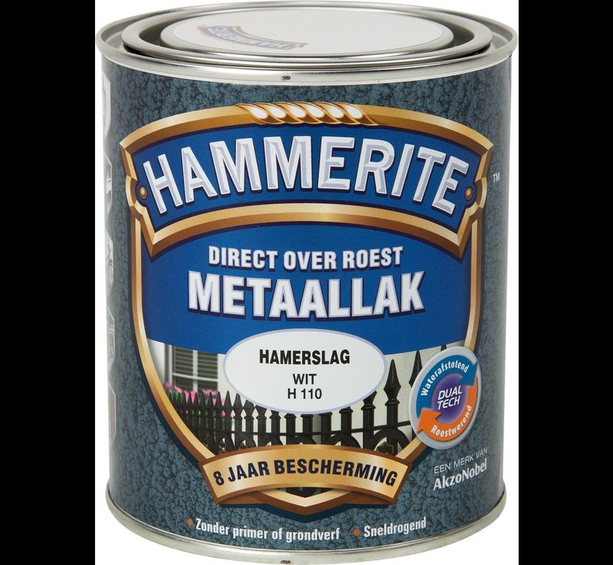 Metaallak Hamerslag Wit