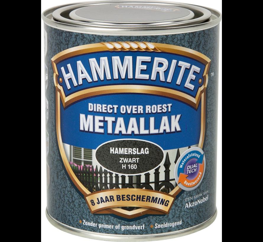 Metaallak Hamerslag Zwart