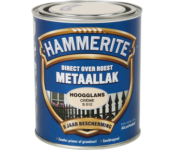 Hammerite Metaallak Hoogglans Creme