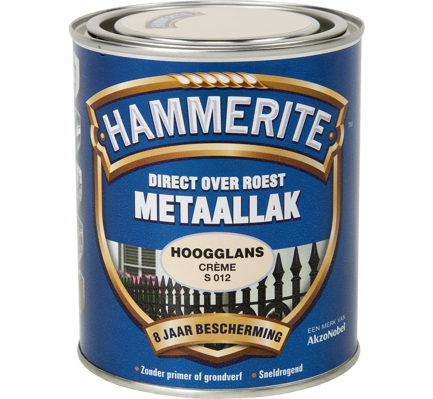 Metaallak Hoogglans Creme