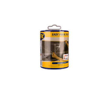 HPX Tapes Easy Mask Film Crepepapier + Dispenser 33 mtr