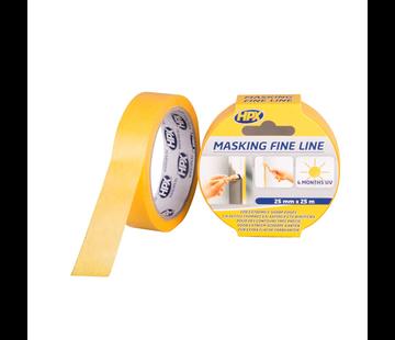 HPX Tapes Masking Tape 4400 Oranje 25 mtr
