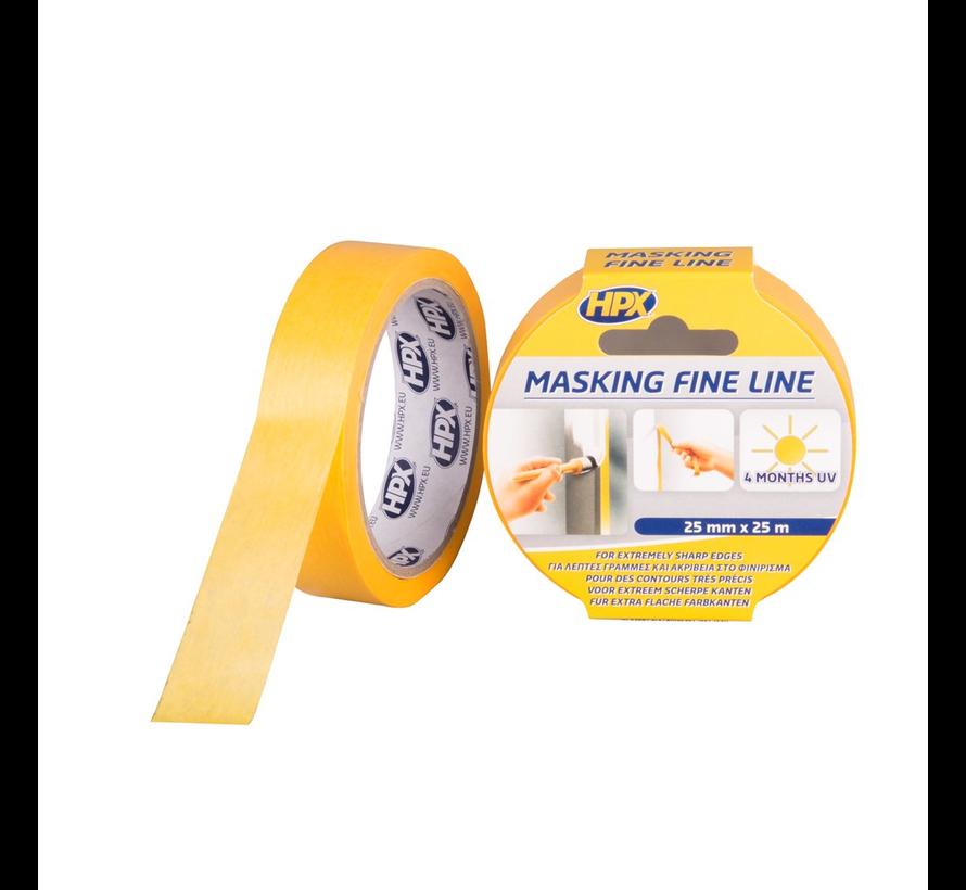 Masking Tape 4400 Oranje 25 mtr
