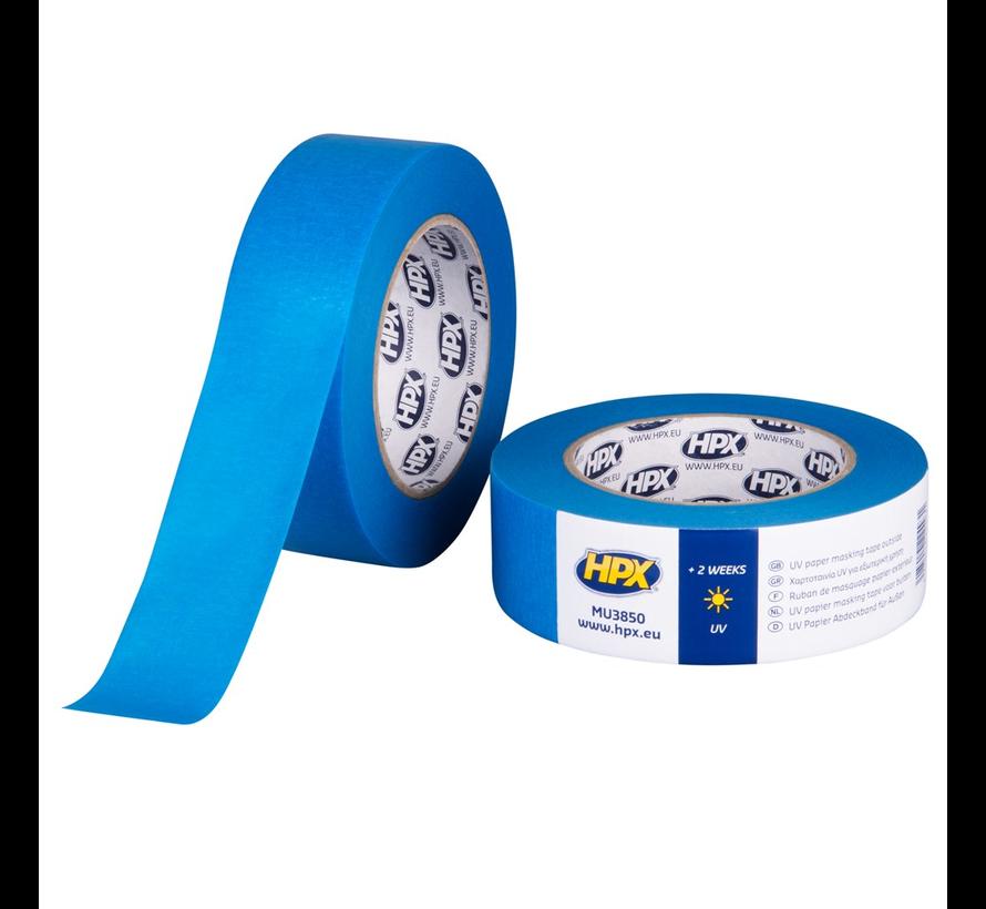 Masking Tape UV Blauw 50 mtr