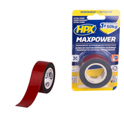 HPX Tapes Max Power Outdoor Bevestigingstape Zwart 1.5 mtr
